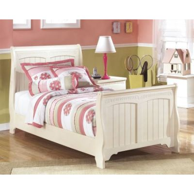 Cottage Retreat Twin Bed in Cream - 001267_Kit