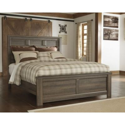 Juararo Queen Panel Bed in Dark Brown - 001300_Kit