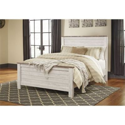 Willowton Queen Panel Bed in Whitewash - 001301_Kit