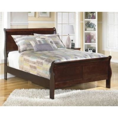 Alisdair Full Sleigh Bed in Dark Brown - 001302_Kit