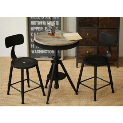 Douglas 3 Piece Adjustable Pub Set in Black - DOUGLASBTBL3PC