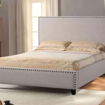 La Jolla Upholstered King Low Profile Bed - LAJOLLASDEKBED