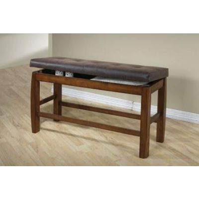 Marrison Counter Height Bench with Storage in Oak - 00847