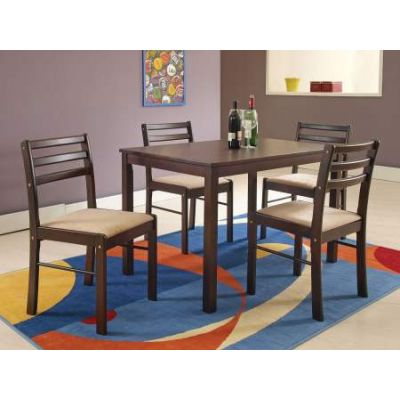 Parkwood Casual Cappuccino wood 5piece Stoneberry Dining Set - 00880