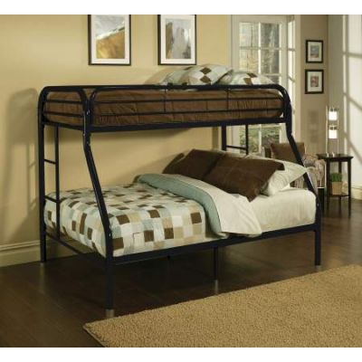 Tritan Twin/Full Ginny's Bunk Bed Black - 02053BK