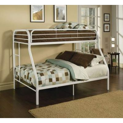 Tritan Twin/Full Ginny's Bunk Bed White - 02053WH