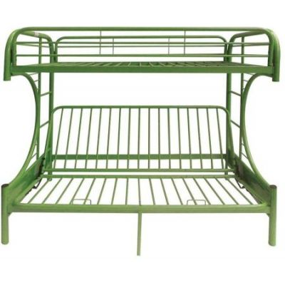 Eclipse Green metal Youth Twin Full Futon Bunk Bed - 02091W-GR