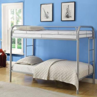 Thomas Twin/Twin Bunk Bed with Silver Finish - 02188SI