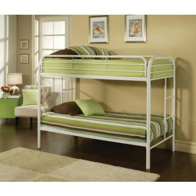 Thomas Twin/Twin Bunk Bed in White - 02188WH