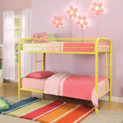 Thomas Twin/Twin Bunk Bed with Yellow Finish - 02188YL