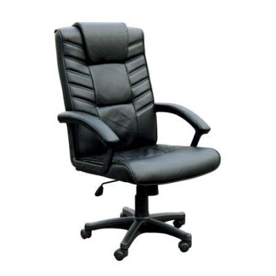 Chesterfield Office Chair with Pneumatic Lift in Black BL - 02341