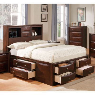 Manhattan California King Bed with storage in Espresso - 001169_Kit