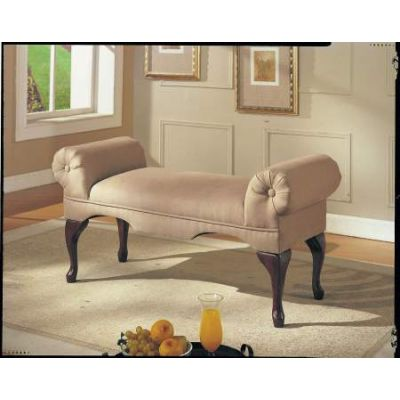Aston Bench with Rolled Arm in Beige Mfb - 05629
