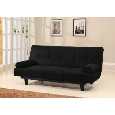 Cybil Adjustable Sofa with 2 Pillows in Black Mfb
