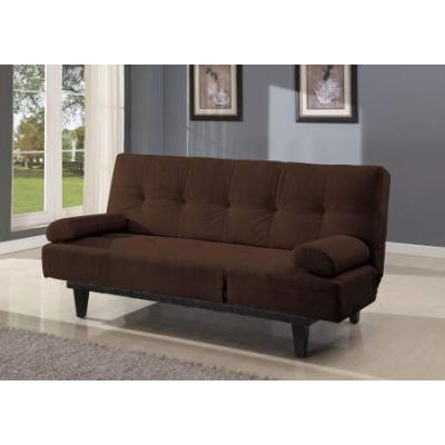 Cybil Adjustable Sofa with 2 Pillows in Brown Mfb - 05855W-BR