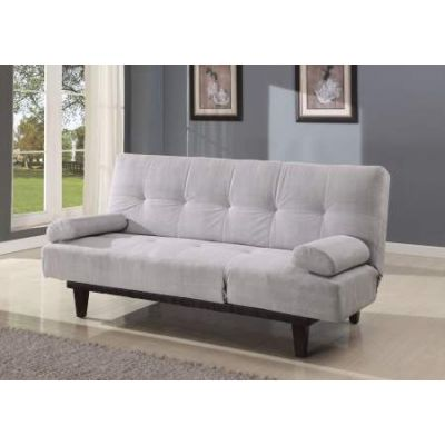 Cybil Adjustable Sofa with 2 Pillows in Silver Mfb