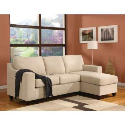 Vogue Sectional Sofa (Reversible Chaise) in Beige Mfb