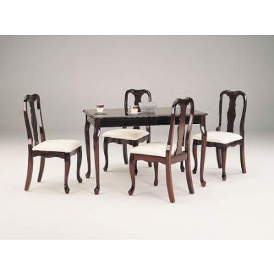Queen Anne 5 Piece Stoneberry Dining Set in Cherry