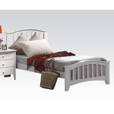 San Marino Twin Bed in White - 001176_Kit