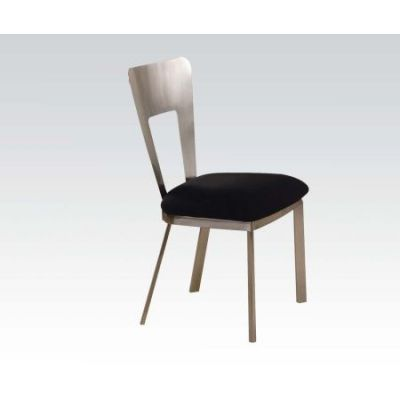 Camille Black Microfiber Dining Side Chair Set of 2 - 10093
