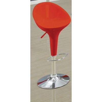 Sybil Adjustable Stool with Swivel(Set of 2) in Red & Chrome - 17700
