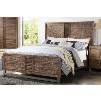 Adria Recllaimed Oak California King Platform Bed - 001068_Kit