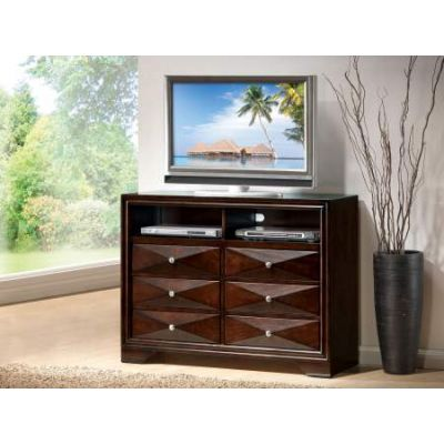 Windsor TV Console in Merlot - 21927