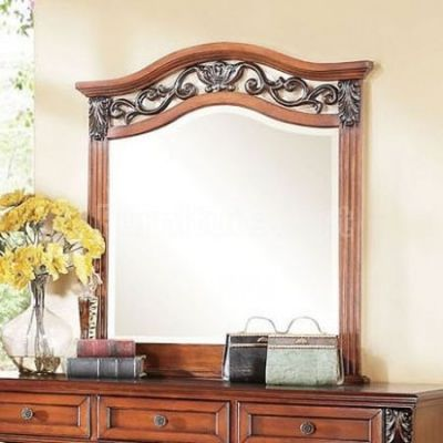 Manfred Mirror in Dark Walnut - 22774