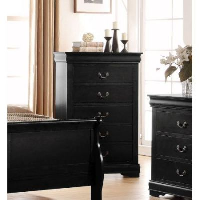 Louis Philippe Chest in Black - 23736