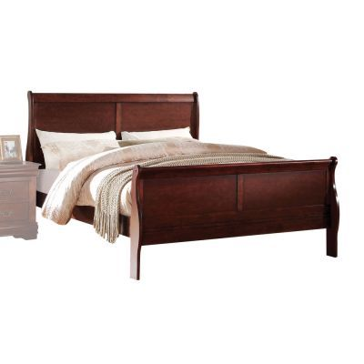 Louis Philippe Cherry California King Sleigh Bed - 000851_kit