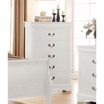 Louis Philippe Chest in White - 23836