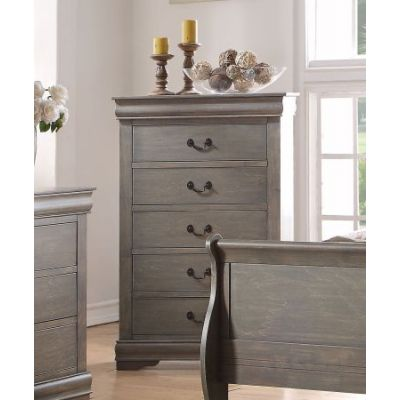 Louis Philippe Chest in Antique Gray - 23866