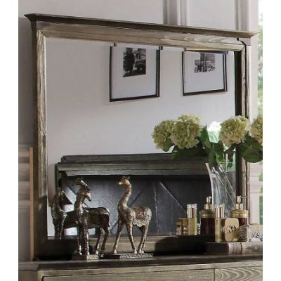 Athouman Mirror in Weathered Oak - 23924