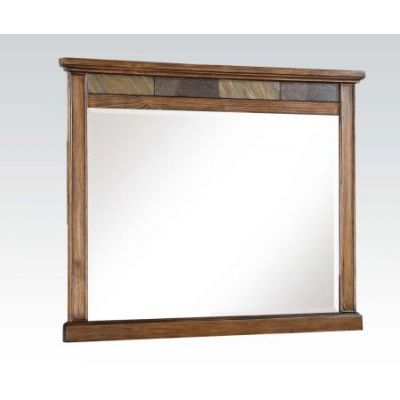 Arielle Mirror in Slate & Oak - 24444