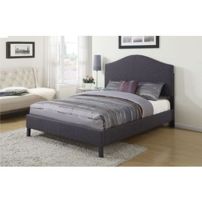 Clyde Gray Linen Queen Platform Bed - 000884_Kit