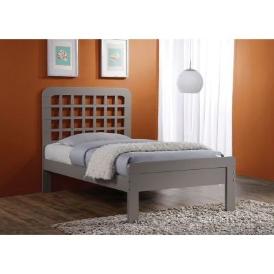 Lyford Gray Twin Platform Bed - 000912_Kit
