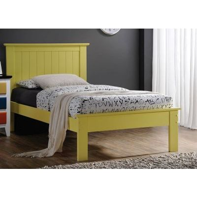 Prentiss Yellow Twin Platform Bed - 000927_Kit