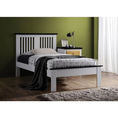 Brooklet White Black Twin Platform Bed - 000936_Kit