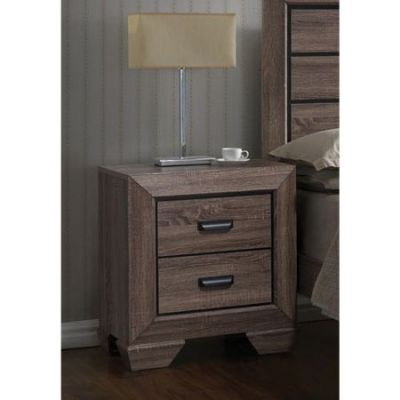 Lyndon Nightstand in Weathered Gray Grain - 26023