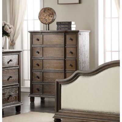 Baudouin Chest in Weathered Oak - 26116