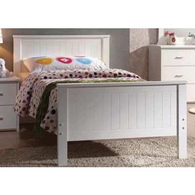 Bungalow Twin Panel Bed in White - 000586_kit