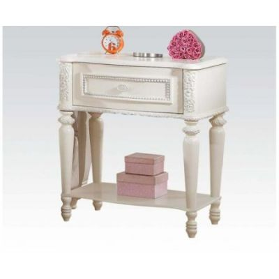 Dorothy Nightstand with 1 Drawer in Ivory - 30369