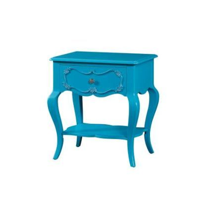 Edalene Nightstand  with Turquoise Finish - 30511