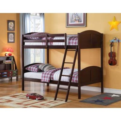 Toshi Twin/Twin Bunk Bed in Espresso - 37010