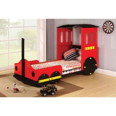 Tobi Ginny's Twin Bed in Red Train - 37195T