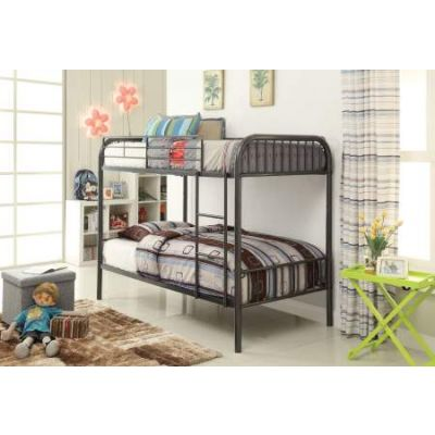 Bristol Twin/Twin Bunk Bed in Gunmetal - 37535