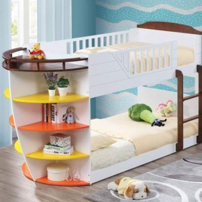 Neptune Twin Over Twin Bunk Bed with Storage Shelves - 001204_Kit