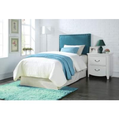 Sabina Queen/Full Headboard Only with Blue Linen Finish - 39115