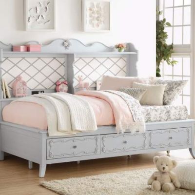 Edalene Gray Twin Daybed with Storage - 000657_kit
