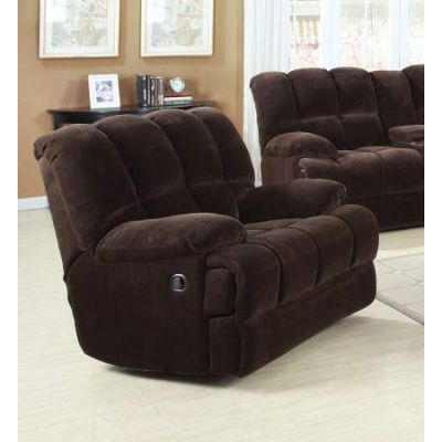 Ahearn Rocker Recliner (Motion) in Chocolate Champion - 50477